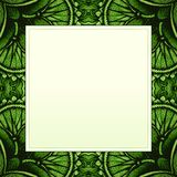 Vector hand drawn background for you eco design. Stock Photography