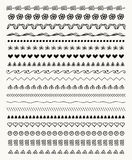 Vector Hand Drawn Balck Pattern Brushes, Line Borders. Collection of Black Hand Drawn Doodle Pattern Brushes, Tiles, Line Borders. Decorative Sketched Rustic Royalty Free Stock Photography