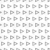 Vector hand drawn black and white geometric seamless pattern with triangle royalty free illustration
