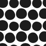Vector hand drawn black and white seamless pattern Stock Photography