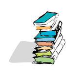 Vector hand drawn books Royalty Free Stock Photo