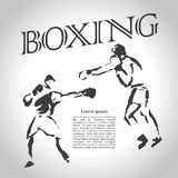 Vector hand drawn boxer sketch Royalty Free Stock Image