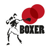 Vector hand drawn boxer sketch Royalty Free Stock Photos