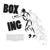 Vector hand drawn boxer sketch Stock Image