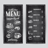 Vector hand drawn breakfast illustration Royalty Free Stock Images