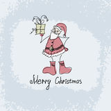 Vector hand drawn Christmas illustration of Santa Stock Image