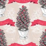 Vector hand drawn Christmas pattern Royalty Free Stock Image