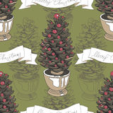 Vector hand drawn Christmas pattern Royalty Free Stock Photography