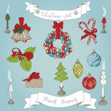 Vector hand drawn christmas set Royalty Free Stock Photography