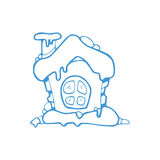 Vector hand drawn christmas or winter house Royalty Free Stock Photos