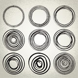 Vector : hand drawn circles, design elements Stock Photography