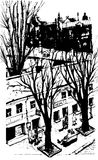Vector Hand drawn City Sketch for your design. Over view artistic picture of Odessa. Ukraine Royalty Free Stock Photo