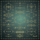 Vector Hand Drawn Decorative Golden Design Elements Royalty Free Stock Photo
