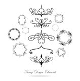 Vector of hand drawn design elements used in patterned circles royalty free stock photos