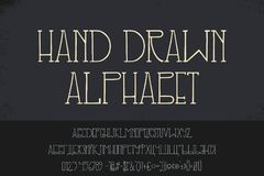 Vector hand drawn doodle alphabet stock illustration