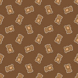Vector hand drawn doodle bear seamless pattern Stock Photography