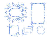 Vector Hand Drawn Doodle Border Stock Image