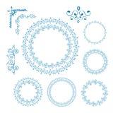 Vector Hand Drawn Doodle Border Set Royalty Free Stock Image