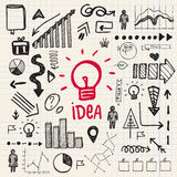 Vector hand drawn doodle business idea set Stock Photo