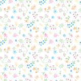 Vector hand drawn doodle flower seamless pattern Stock Image