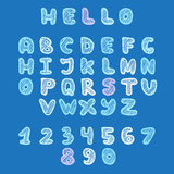 Vector hand drawn doodle font in sketch style Royalty Free Stock Image