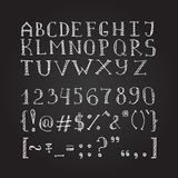 Vector hand drawn doodle font in sketch style Stock Image