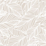 Vector hand drawn doodle leaves seamless pattern. Light pastel b Stock Photography