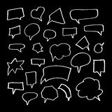 Hand Drawn Doodle Style Set Of Speech Bubbles Royalty Free Stock Photography