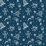 Vector hand drawn doodles cartoon set of Space objects Stock Image
