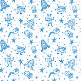 Vector hand drawn doodles cartoon set of Space objects Royalty Free Stock Photos