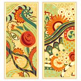 Vector hand drawn ethnic pattern card set. Stock Photography
