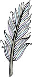 Vector hand drawn feather illustration Stock Image