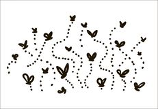 Vector hand drawn Flies simple sketch illustration on white background vector illustration