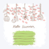 Vector Hand drawn floral background Stock Images