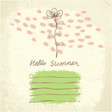 Vector Hand drawn floral background Royalty Free Stock Photos