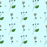 Vector hand drawn floral pattern. Vector hand drawn assumed flower pattern Stock Photos