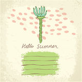 Vector hand drawn floral template card Royalty Free Stock Photos