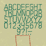 Vector hand drawn font. Sketch style alphabet. Royalty Free Stock Photo