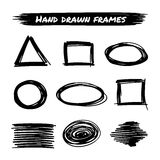Vector hand drawn frames Stock Photos