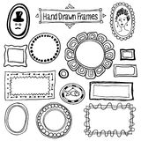 Vector hand drawn frames set in vintage style Royalty Free Stock Photo