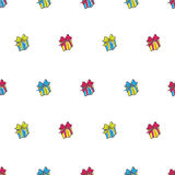 Vector hand drawn gift box seamless pattern Royalty Free Stock Photo