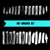 Vector hand drawn grunge dry brush line smears. Royalty Free Stock Photo