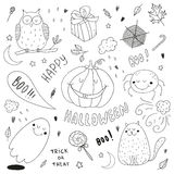 Vector hand drawn halloween set Royalty Free Stock Photography