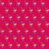 Vector hand drawn ice cream pattern Royalty Free Stock Images
