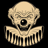 Vector hand drawn  illustration of angry clown. Stock Photography