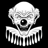 Vector hand drawn  illustration of angry clown. Royalty Free Stock Images