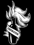 Vector hand drawn illustration of ` Firewater`. Stock Photography