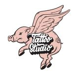 Vector hand drawn illustration. Of flying pig and handwritten lettering.  Template for card, poster, banner, print for t-shirt, label Royalty Free Stock Image