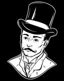 Vector hand drawn illustration of gentleman Royalty Free Stock Images