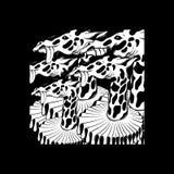 Vector hand drawn illustration of giraffe isolated . vector illustration